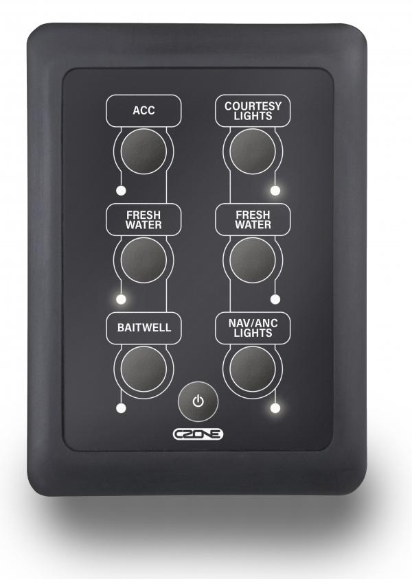 CZone Waterproof Keypad 2x3 Hochformat