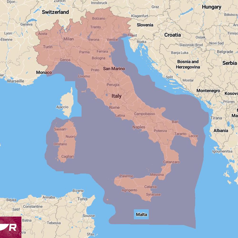 Raymarine Lighthouse Seekarte Italien (R70794-ITA)