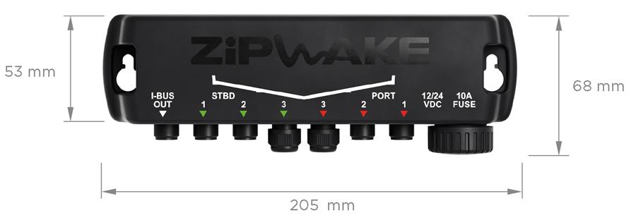 Zipwake Verteilerbox DU-S