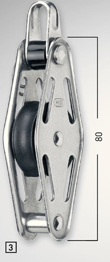 Sprenger 12mm Gleitlagerblock doppelt mit Bügel
