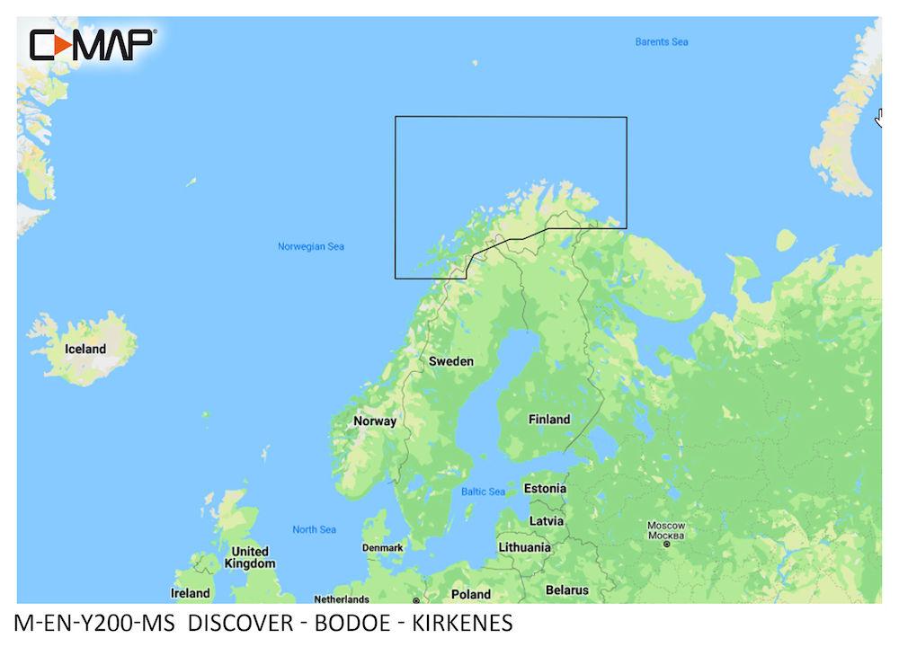 C-MAP DISCOVER:  M-EN-Y200-MS  Bodoe - Kirkenes