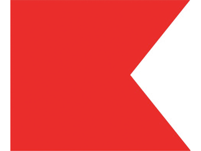 Talamex Buchstabenwimpel Abm. 30 x 36 cm Signalflagge B
