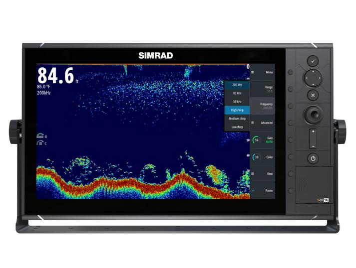 """Simrad S2016 Fischfinder mit 9"""" Display Broadband Sounder und Chirp Front"""