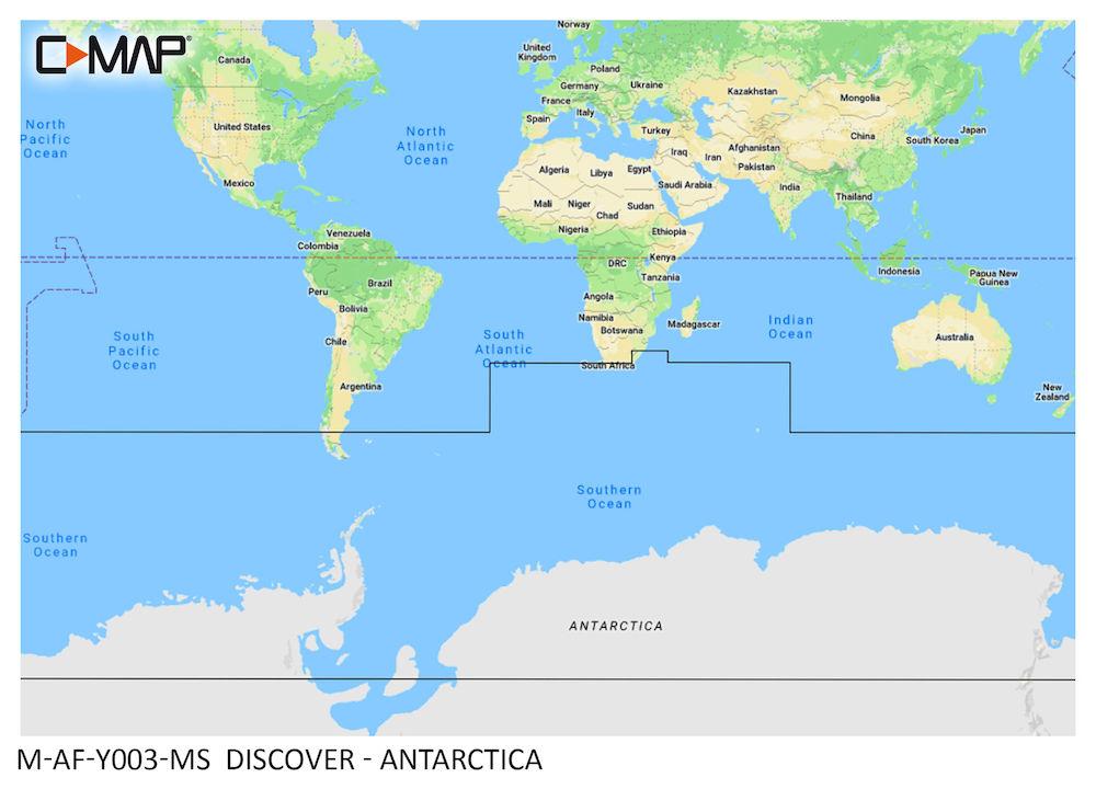 C-MAP DISCOVER:  M-AF-Y003-MS  Antarctica
