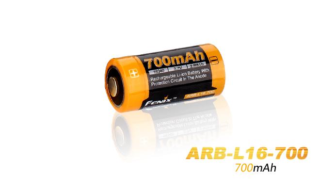 Fenix ARB-L16-700 geschützter Li-Ionen Akku 16340 RC123A für PD25 PD22UE