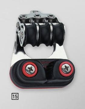 Sprenger 6mm Micro XS Block dreifach mit Schotklemme und Bügel