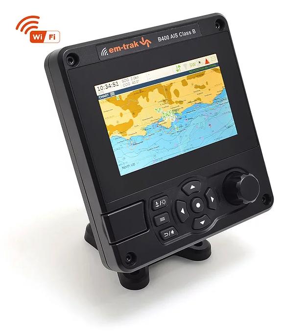 em-trak AIS Transceiver B400 mit Kartendisplay