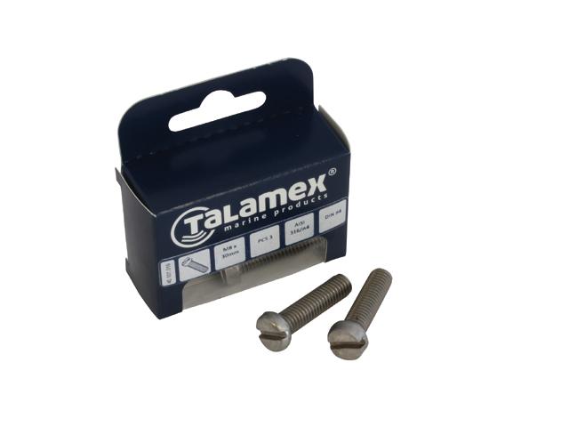 Talamex Edelstahl Zylinderkopfschraube mit Schlitz DIN84 (versch. Größen)