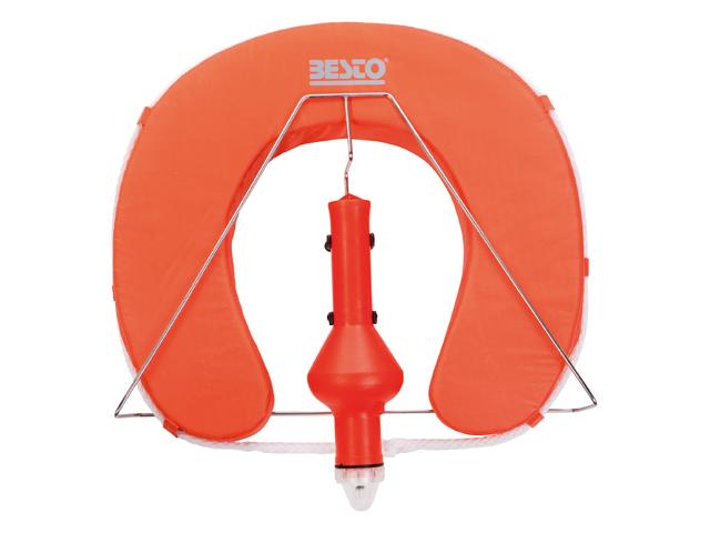 Besto Hufeisen Rettungsring und Halter und Festlicht orange