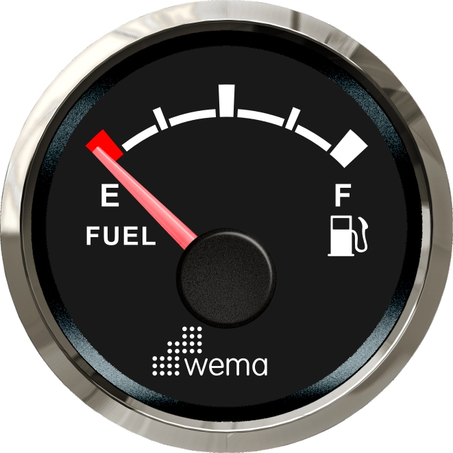 Wema NMEA2000 Tankanzeige Treibstoff Silver-Line schwarz
