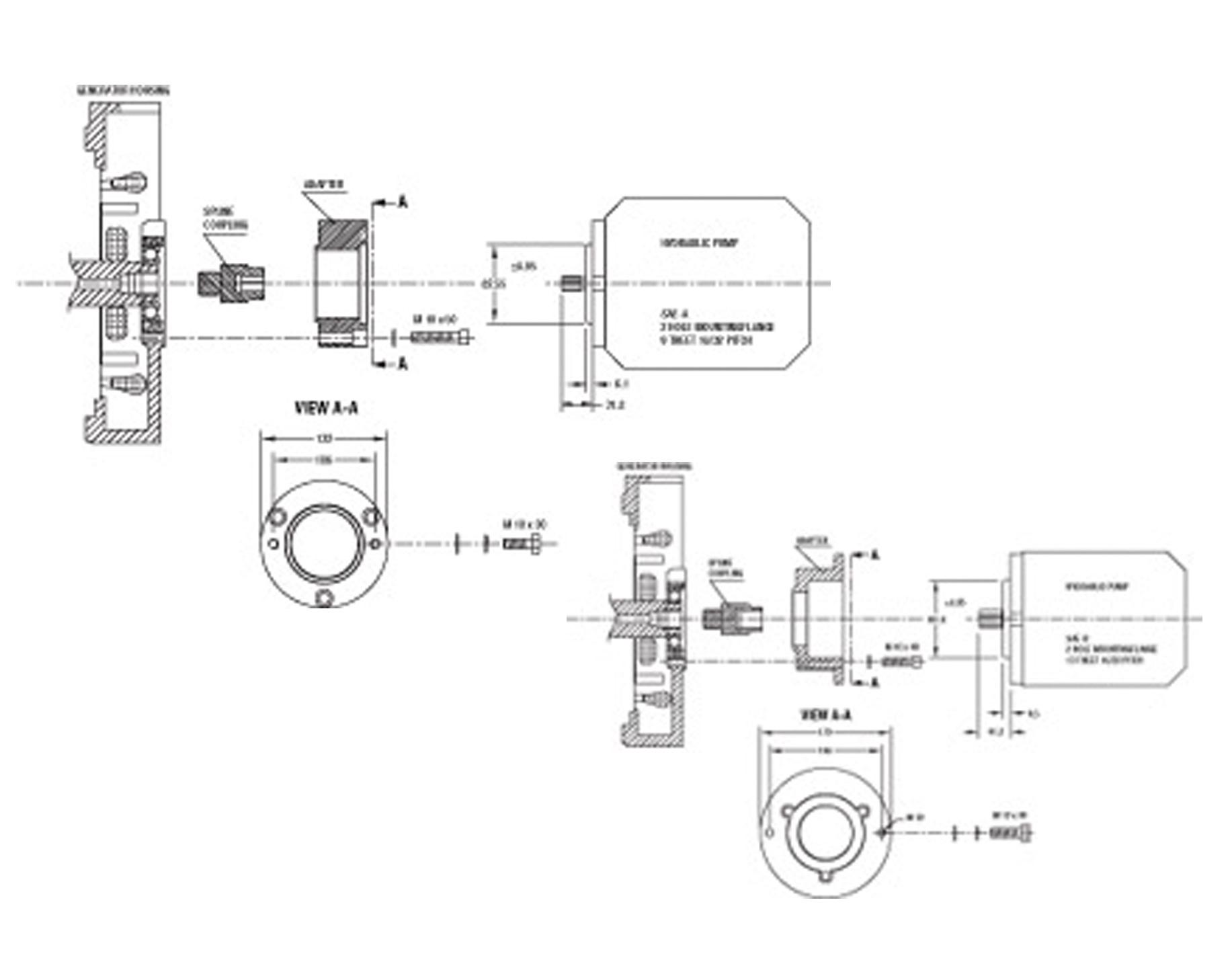WhisperPower M-SQ Generator PTO Hydraulik Kits (versch. Ausführungen)