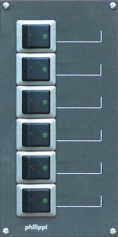 Philippi STV 206 zweipolig für 6 Stromkreise