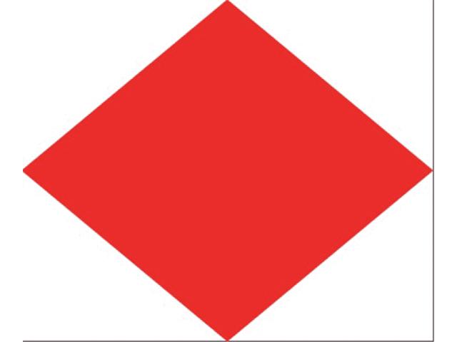 Talamex Buchstabenwimpel Abm. 30 x 36 cm Signalflagge F