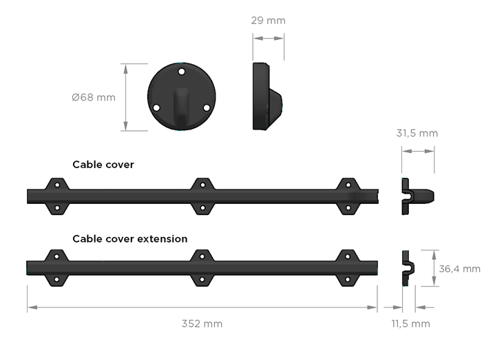 Zipwake Kabelschutz Kabelabdeckung