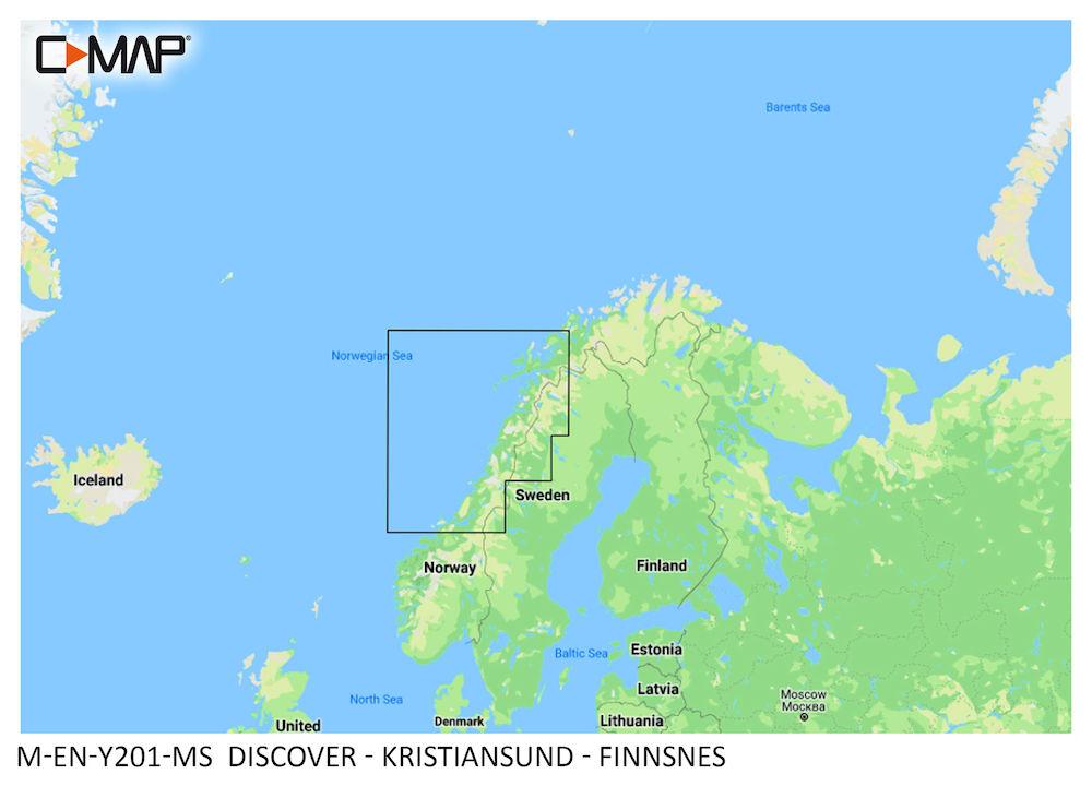 C-MAP DISCOVER:  M-EN-Y201-MS  Kristiansund - Finnsnes