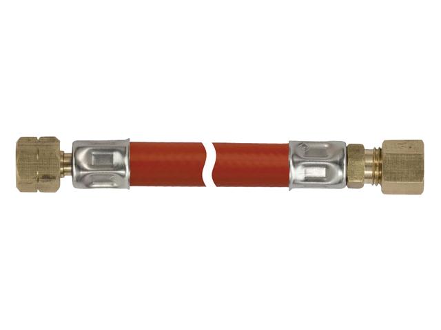 Talamex Gasschlauch Gasleitung 1/4 LH-ÜM x 8mm RVS (versch. Längen)