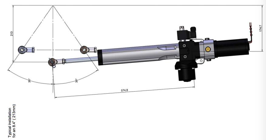Elektro Hydraulischer Linearantrieb für Segelyachten MLP40