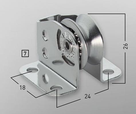 Sprenger 4mm Kugellager Micro XS Stehblock für Draht einfach