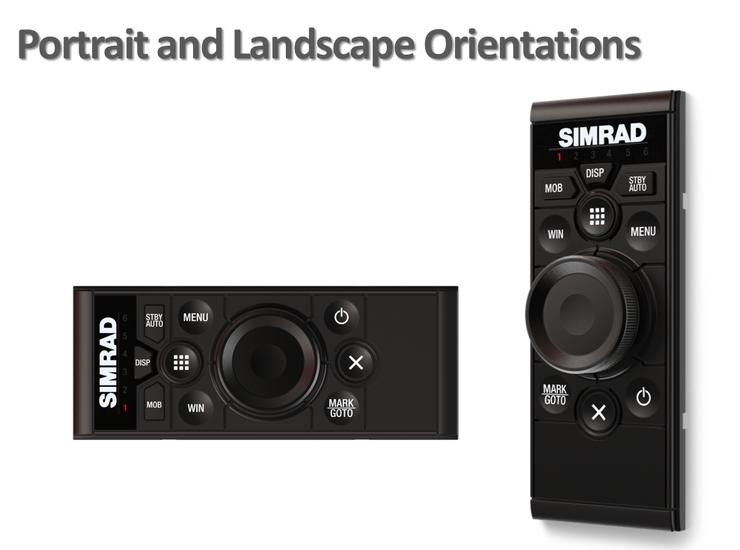 Simrad OP50 Fernbedienung für NSE, NSO und NSS (Portrait / Landscape Montage)