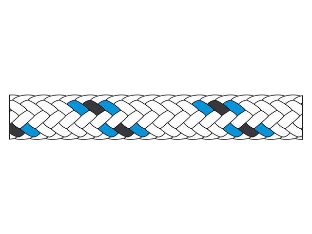 Liros Tiptolest Allround in Weiss-Blau, 8 mm (Preis/Meter)