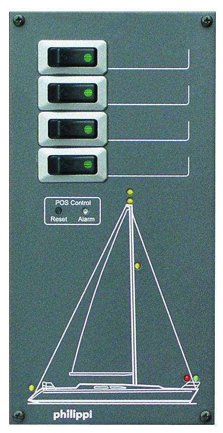 Philippi STV 204 SY für 4 Stromkreise (Segelyacht)
