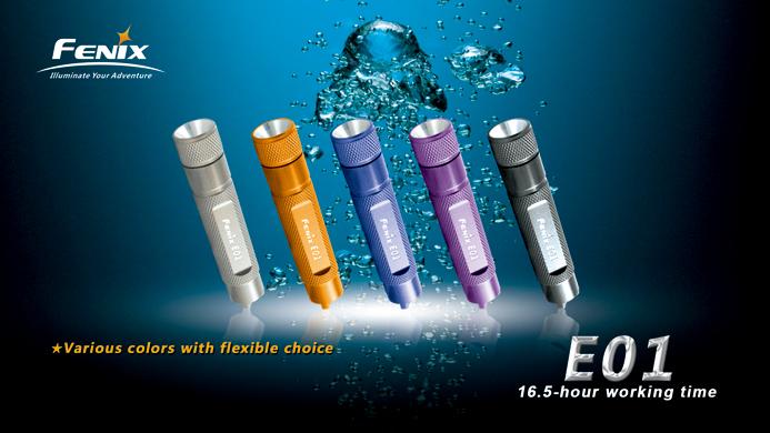 Fenix E01 13 Lumen Taschenlampe für den Schlüsselbund in verschiedenen Farben