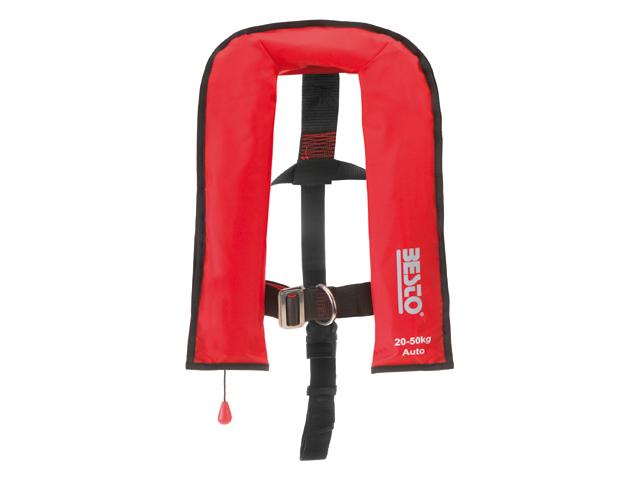 Besto Automatik Junior 100N Rettungsweste 20-50kg Rot