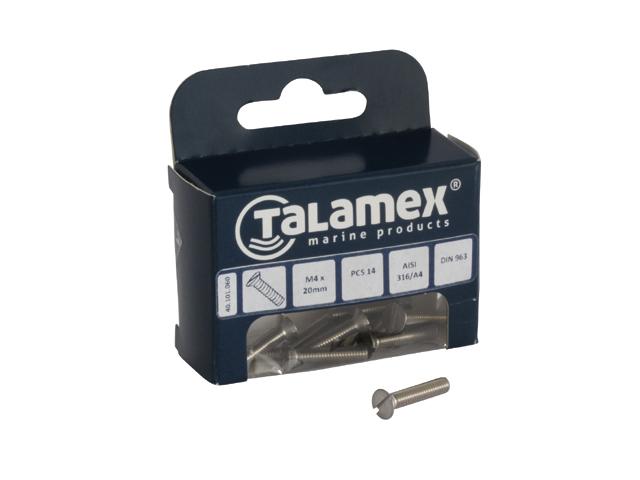 Talamex Senkkopfschraube mit Schlitz DIN963 (versch. Größen)