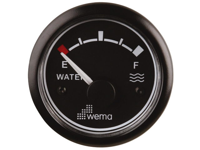 Wema Tankanzeige Wasser schwarz
