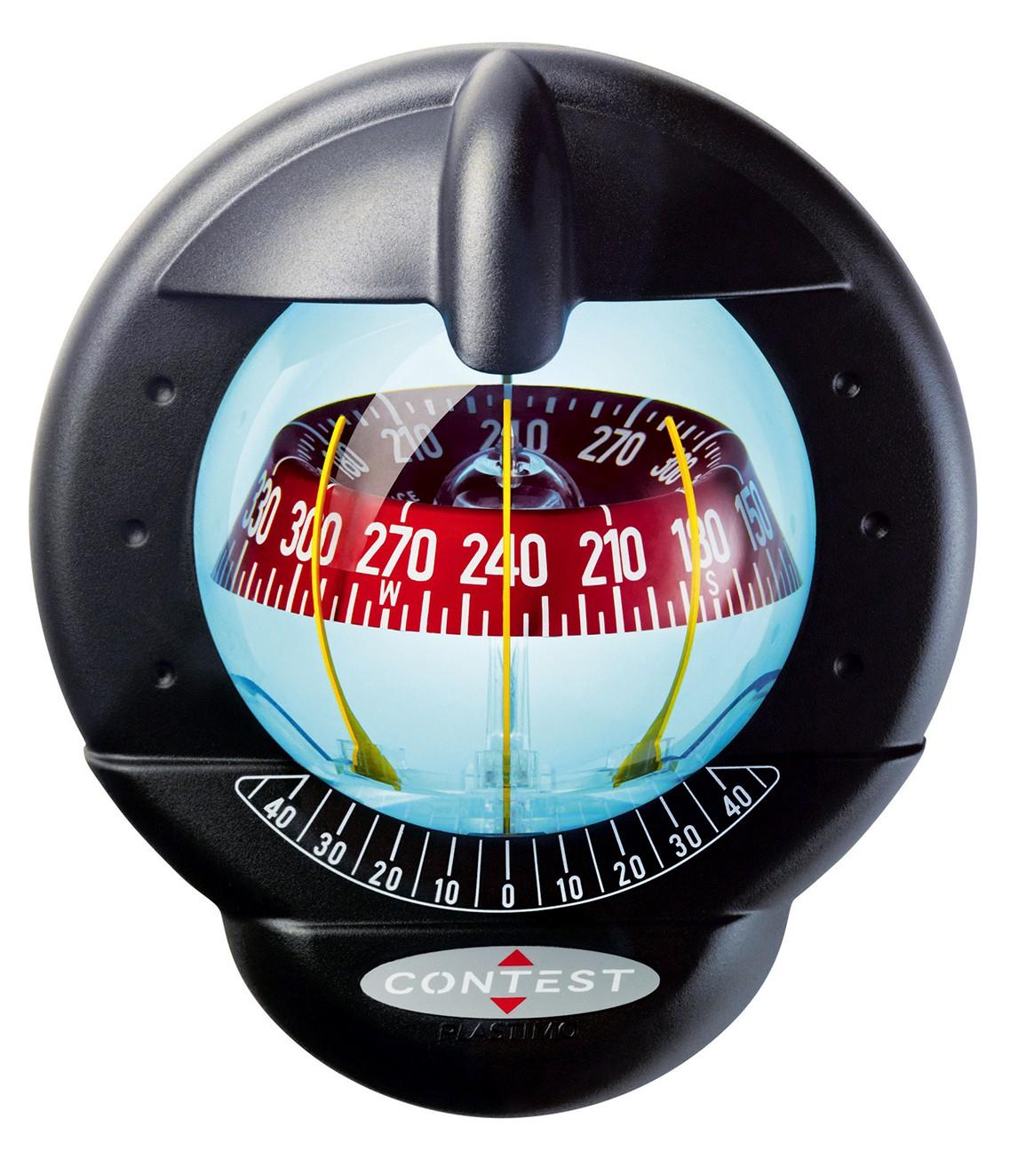 Plastimo Kompass Contest 101 für geneigte Schotten 10-25° schwarz, rot