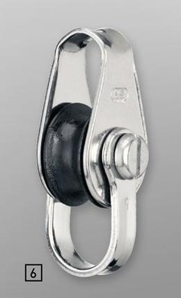 Sprenger 10mm Gleitlager Industrieblock einfach mit durchgehendem Bügel und Hundsfott